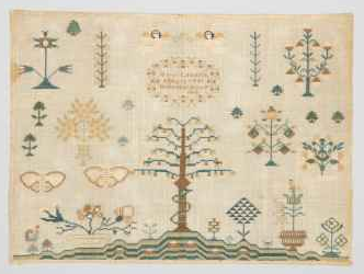 Tree of Knowledge embroidery sampler