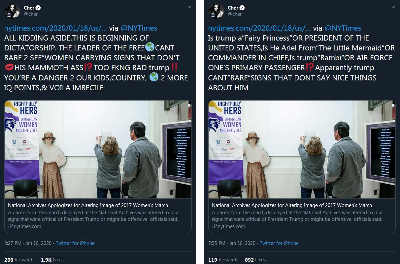 tweet screenshots