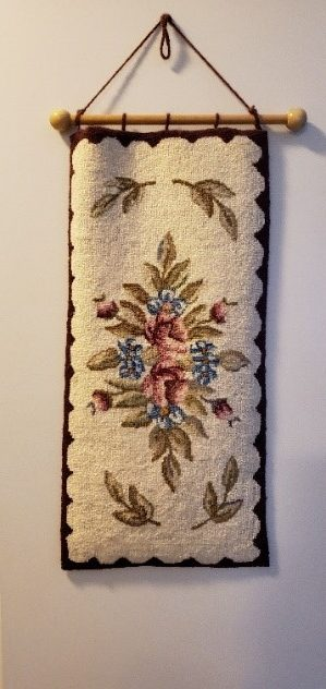 Hanging floral rug