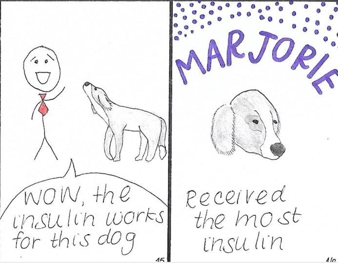 comic of a dog