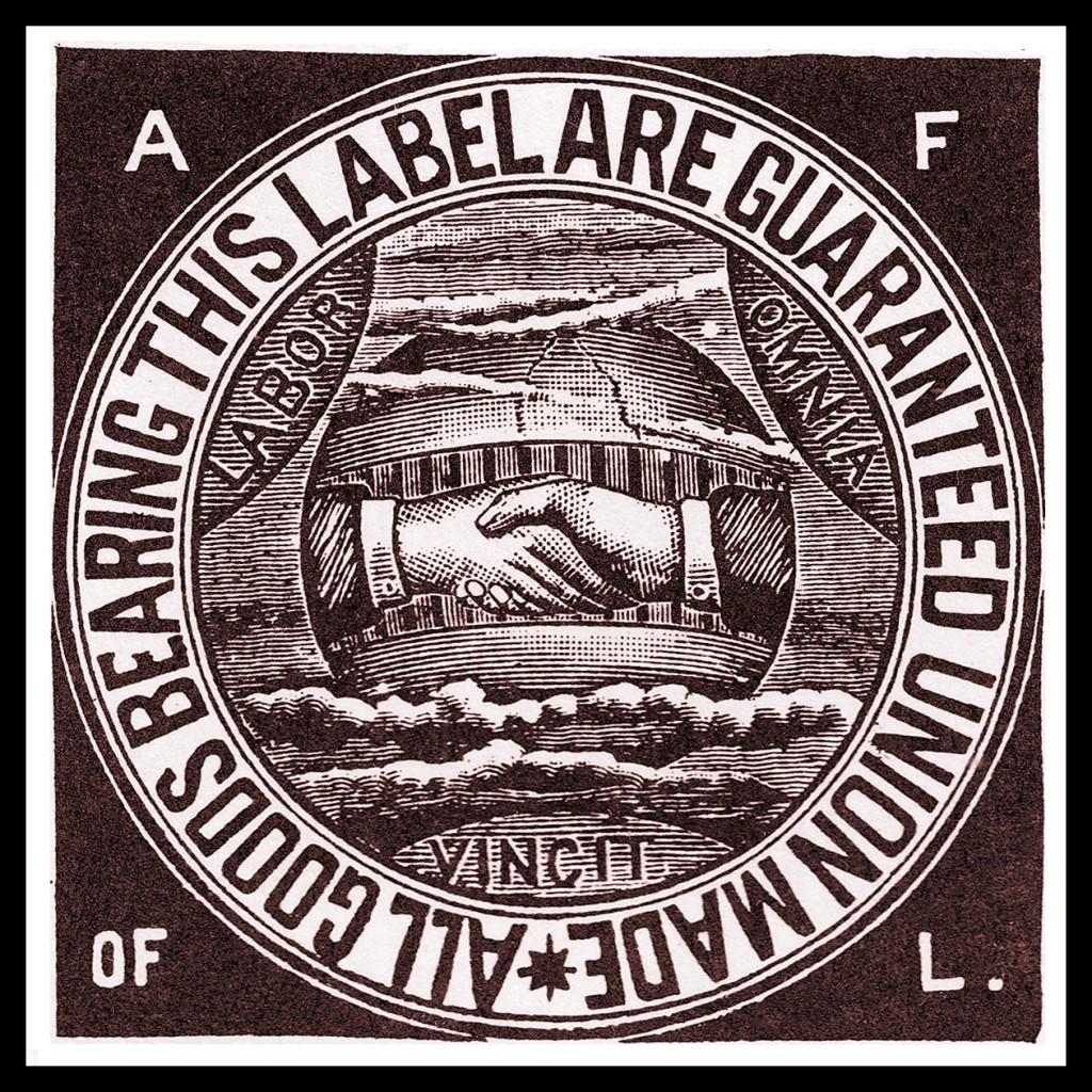 American Federation of Labor union label, circa 1900.
