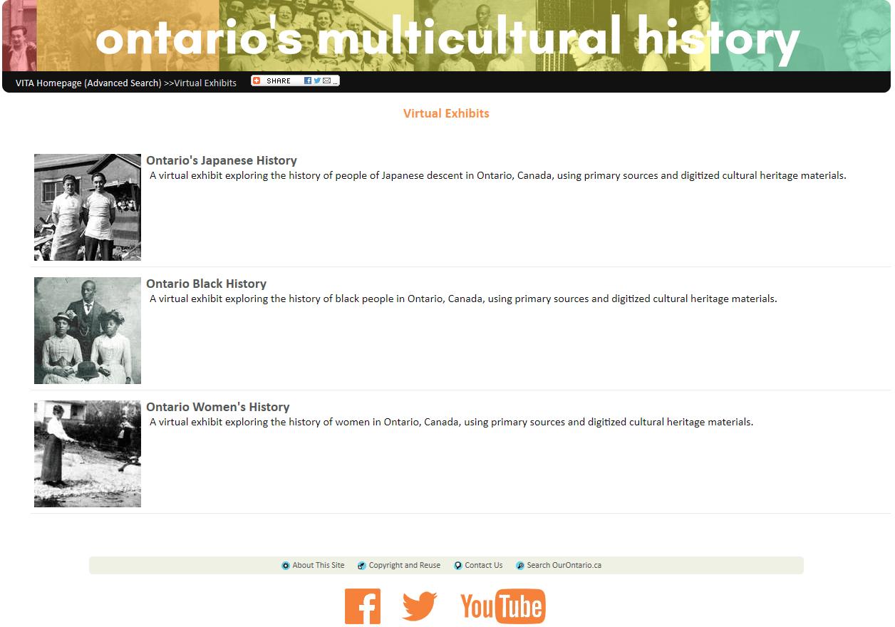 Screenshot of ODW virtual exhibit page.