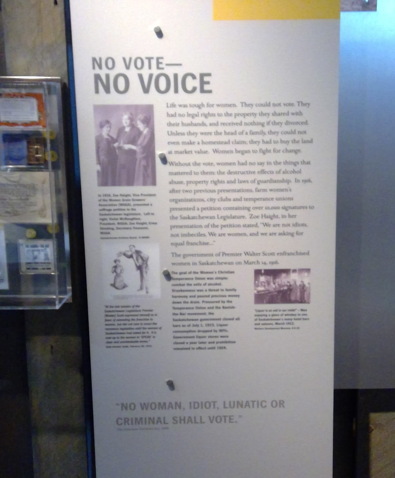 No Voice exhibit panel