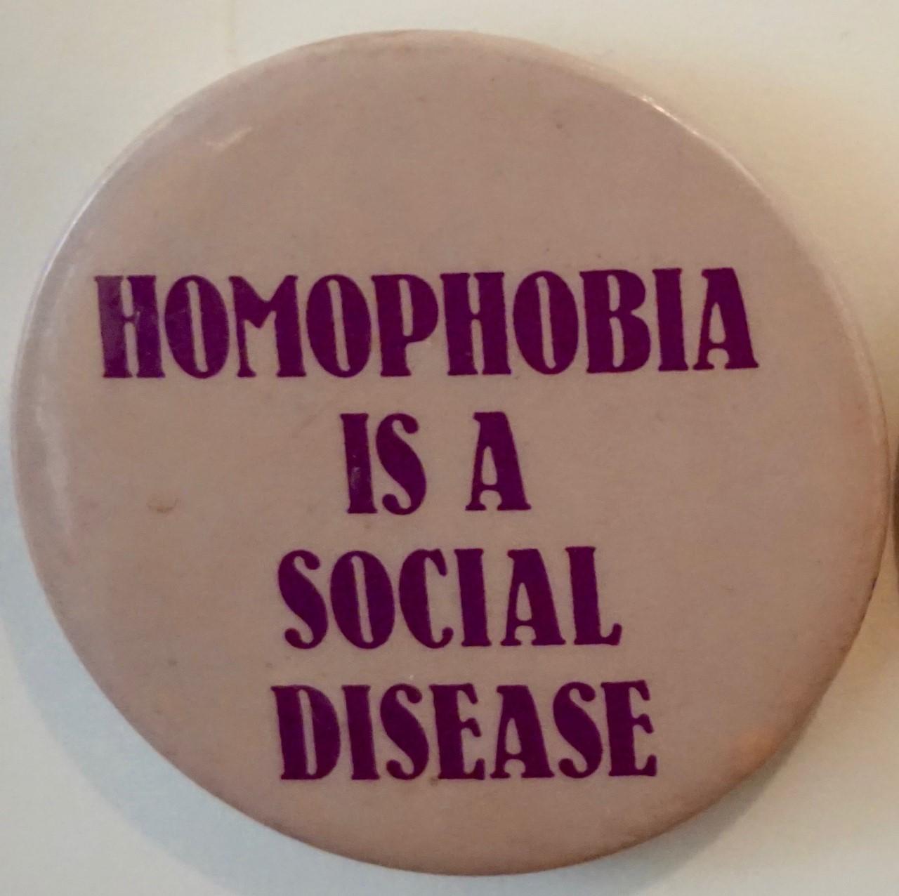 Burron reading homophobia is a social disease
